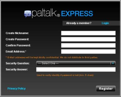 Paltalk Express Sign Up