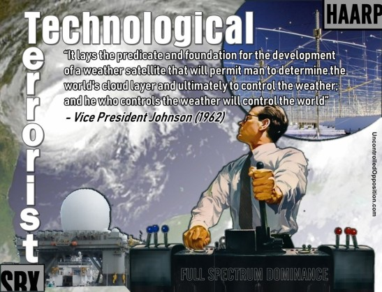 Technological Terrorist controlling the weather
