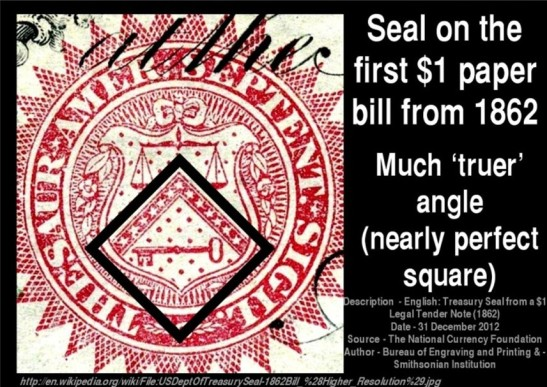 1862 US Dollar Treasury seal