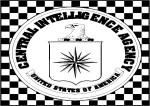 CIA Logo on Checkered Floor