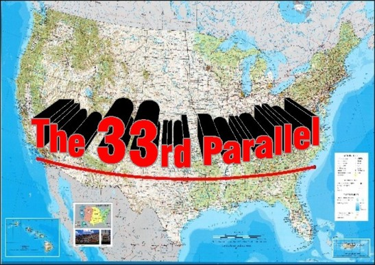 The 33rd Parallel USA Map
