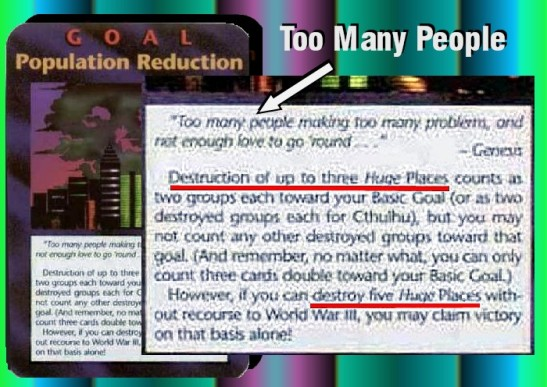 Illuminati Population Reduction Card Instruction Text