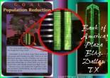 Illuminati Card Population Reduction and Bank of America Plaza Bldg Similarity