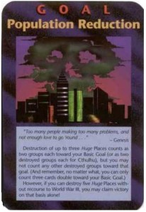 Illuminati Population Reduction Game Card