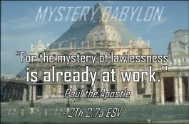 Mystery Babylon, Vatican, Egypt