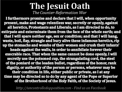 Full version of the Jesuit Extreme Oath of Induction