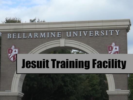 Entrance to Cardinal Robert Bellarmine Jesuit University in Louisville, KY