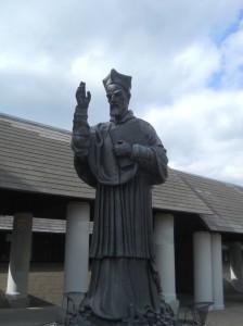 Robert Bellarmind Statue on Campus