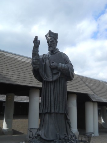 A photo I took of the Bellarmine statue on the campus of Bellarmine University.