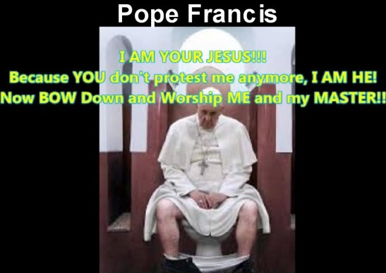 Actual photo of Pope Francis sitting on toilet
