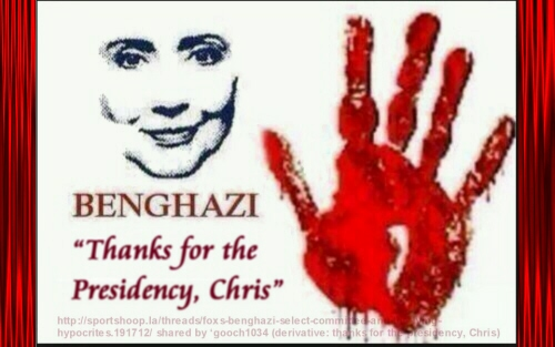 Hillary thanks Christopher Stevens for Presidency