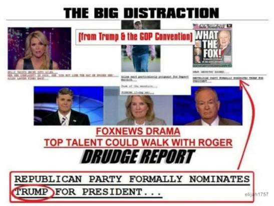 FOX NEWS TRUMP DISTRACTION