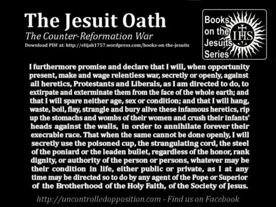 Jesuit Oath - Counter Reformation War