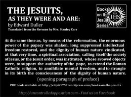The Jesuits, As They Were and Are by Edward Duller