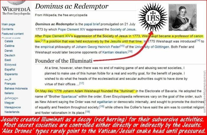 Illuminati started by Jesuits