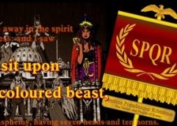 Harlot woman on the Scarlet beast